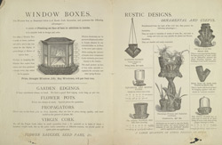 Advert For Chas. Williams' China, Glass and Gardens Pottery Rooms, reverse side